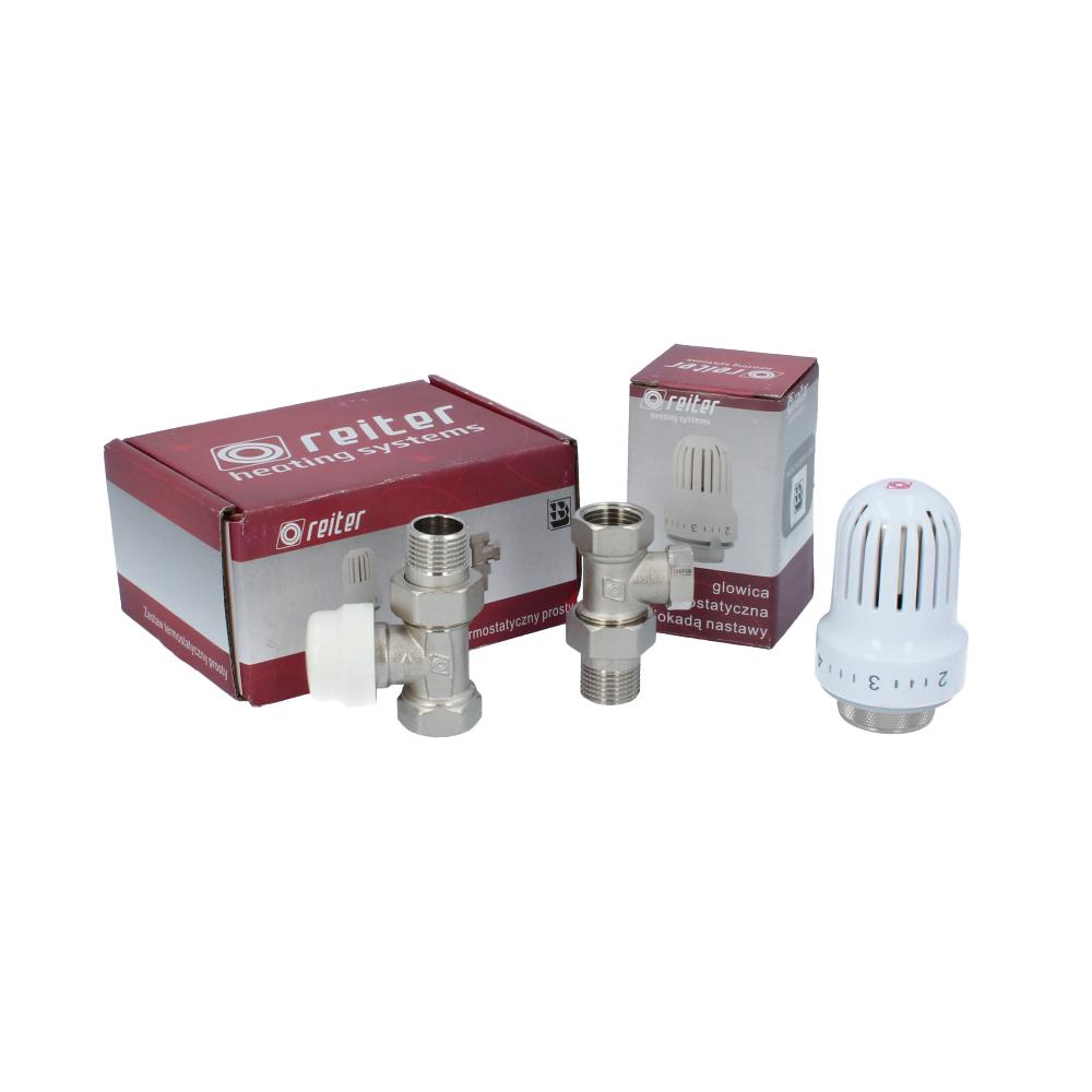 Thermostatkopf Thermostatventil Rücklaufverschraubung Set Heizung Ventil