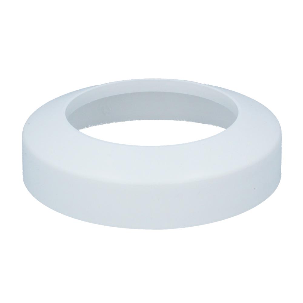 Rosette f WC 110mm weiß Anschlußbogen Stutzen Anschlußrohr Abflußrohr Abwasser